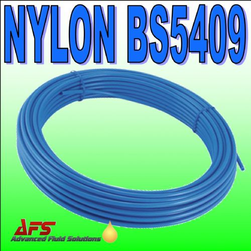 4mm x 2.5mm BLUE Metric Flexible Nylon Tubing BS5409